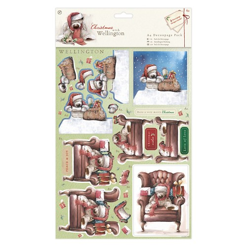 A4 Decoupage Pack - Wellington Christmas -  Chair