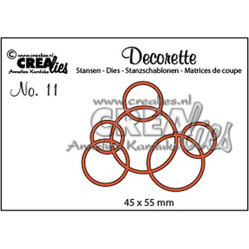 Crealies Decorette no. 11 cirkels in elkaar 45x55mm / CLDR11