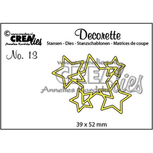 Crealies Decorette no. 13  sterren in elkaar 39x52mm / CLDR13