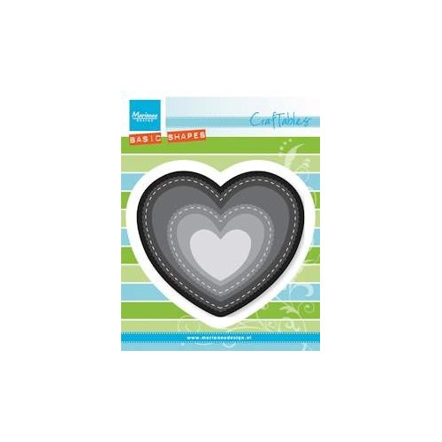 Jan2016 ! Marianne Design - Die - Craftables - Heart (Basic shape)