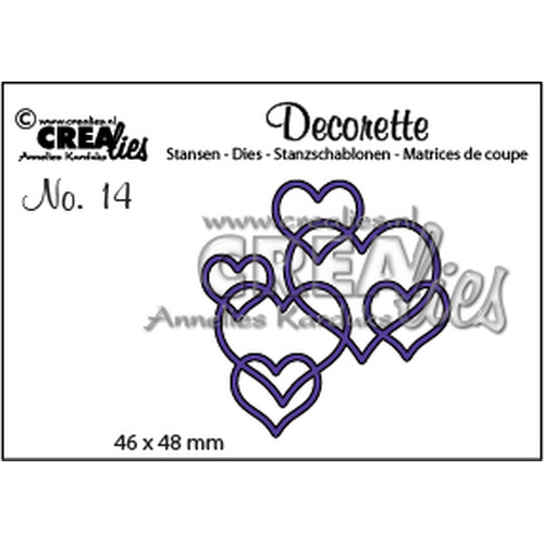 Crealies Decorette no. 14 Decorette no. 14 harten 46 x 48 mm / CLDR14