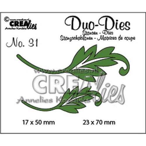 Crealies Duo Dies no. 31 blaadjes 1 23x70mm-17x50mm / CLDD31