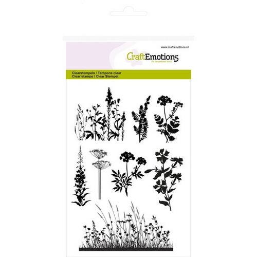 CraftEmotions clearstamps A6 - kruiden takken Life and Garden (new 03-16)