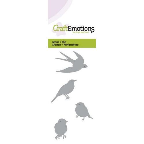 CraftEmotions Die - vogels Card 5x10cm