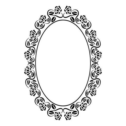 Embossing folders - Oval rose frame 110x160mm