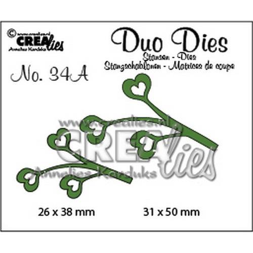 Crealies Duo Dies no. 34A blaadjes 4 spiegelbeeldig 31x50mm-26x38mm / CLDD34A