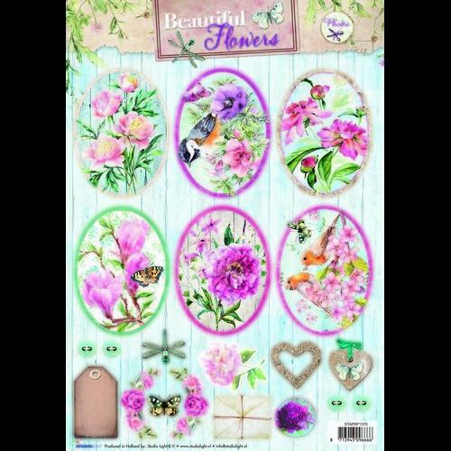 Studio Light Knipvellen vel A4 Beautiful Flowers 1370 STAPBF1370 (new 05-16)