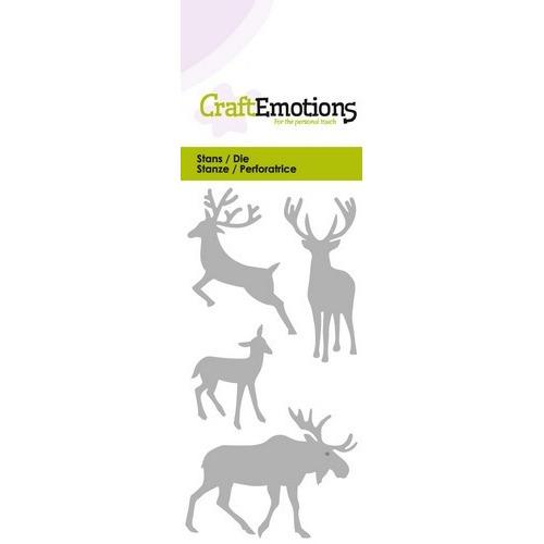 CraftEmotions Die - eland hert ree Card 5x10cm (07-16)