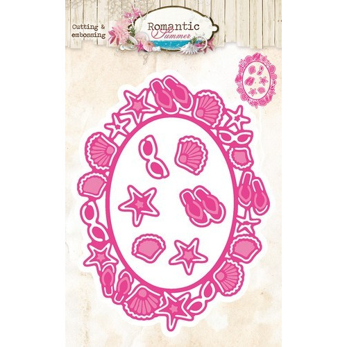 Studio Light Embossing Die Cut Stencil Romantic Summer nr 11 STENCILRS11 (07-16)