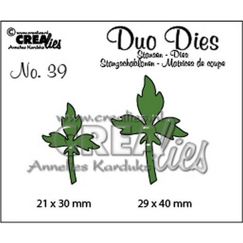 Crealies Duo Dies no. 39 blaadjes 7 29x40mm-21x30mm / CLDD39