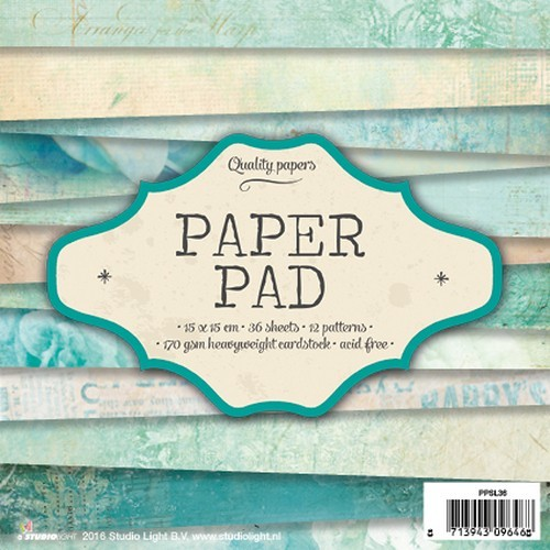 Studio Light Paper pad 36 vel 12 designs nr 36 PPSL36 15x15cm (10-16)