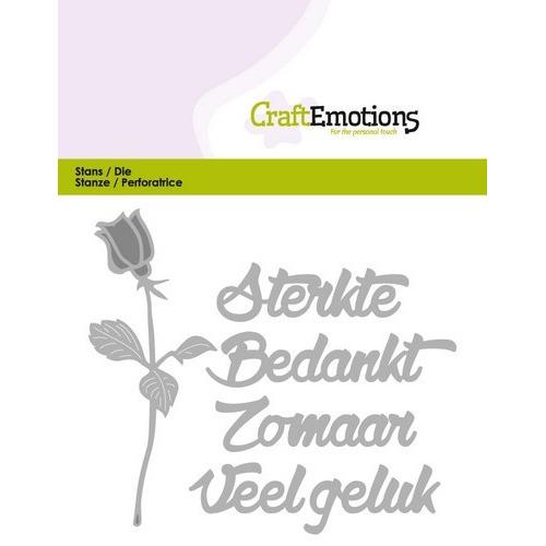 CraftEmotions Die Tekst - Sterkte bedankt (NL) Card 11x9cm (01-17)