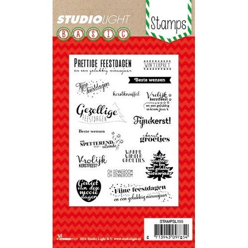 Studio Light Clearstempel A6 Kerst teksten (NL) nr 155 STAMPSL155 (11-16)