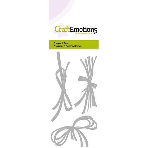 CraftEmotions Die -Strikjes touw en raffia Card 5x10cm (02-17)