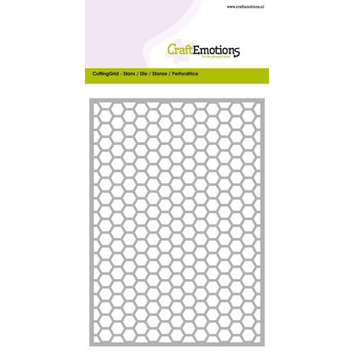 CraftEmotions Die - Cutting Grid - honingraat Card 10,5x14,8cm (02-17)