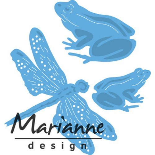 Marianne D Creatable Tiny`s kikkers en libellen LR0461 9,5x13cm (03-17)