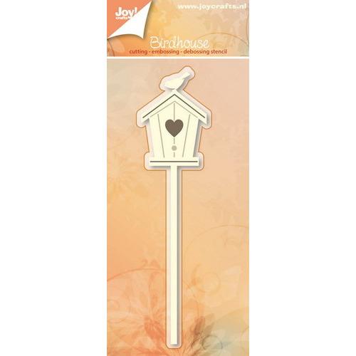 Basislijn: Snij-embos-debosstencil - Vogel & huisje