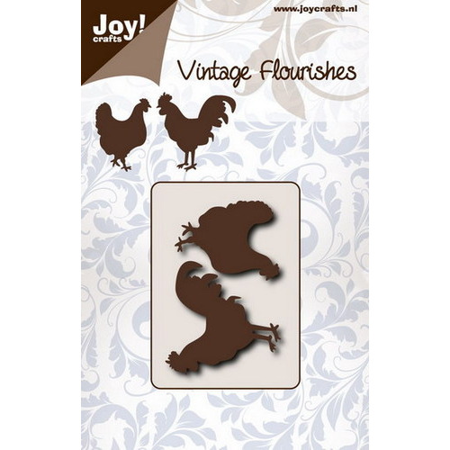 Snijstencil - Vintage flourishes - Kip & haan