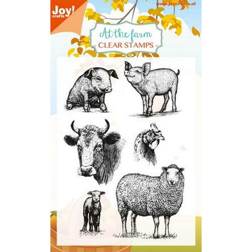 Clear stempel - Boerderij dieren (varkens/schapen/kip/koe)