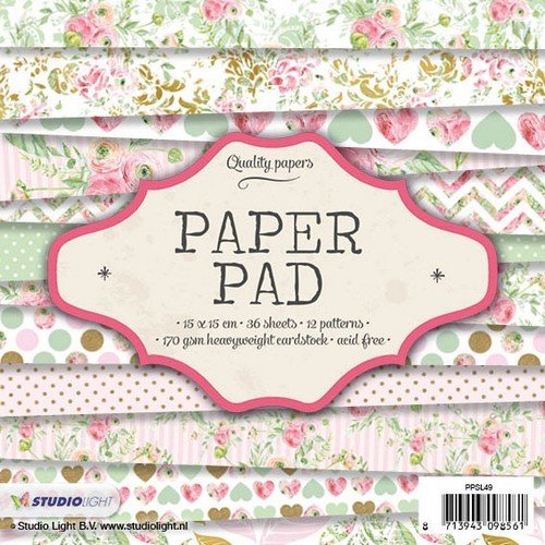 Studio Light Paper pad 36 vel 12 designs nr 49 PPSL49 15x15cm (05-17)