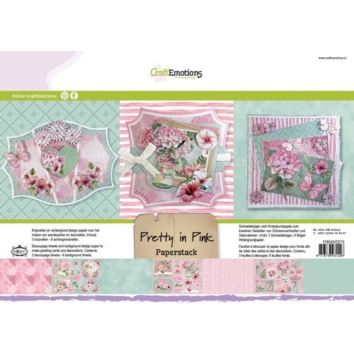 CraftEmotions Paper stack Pretty in pink 11 vel A4 (06-17)