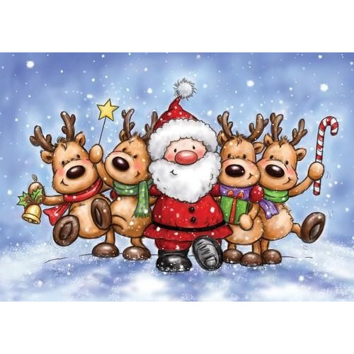 Wild Rose Studio`s A7 stamp set Jolly Reindeer CL509 (08-17)