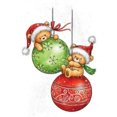 Wild Rose Studio`s A7 stamp set Teddy Baubles CL510 (08-17)