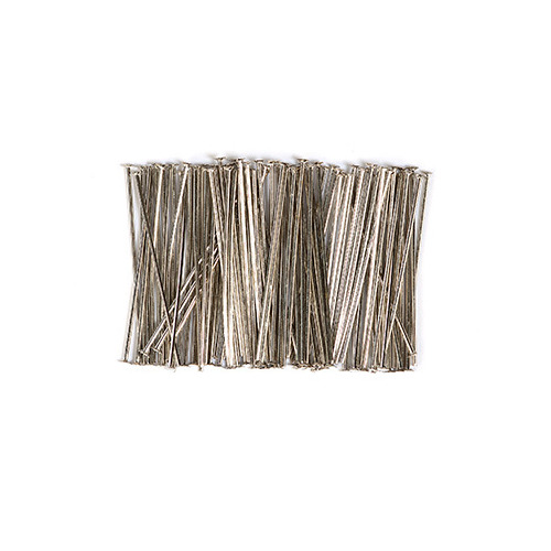 10317-3201 Head pin, 32mm, Platinum, 100pcs/header bag