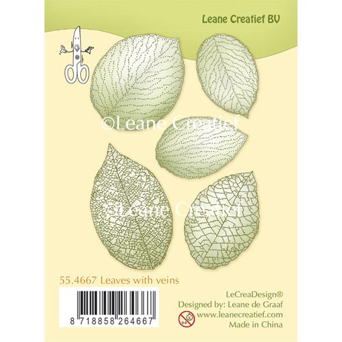 Clear Stamp Leaves with veins