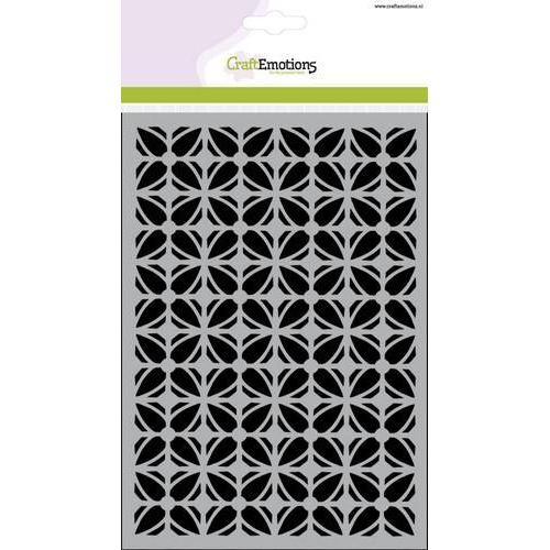 CraftEmotions Mask stencil - partroon ornament blok bloem A5  (new 01-18)