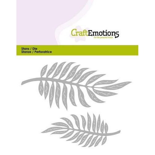 CraftEmotions Die - tropische bladeren Card 5x10cm (new 03-18)