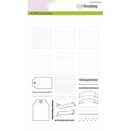 CraftEmotions clearstamps A5 - Bullet Journal - frames en randen (02-18)