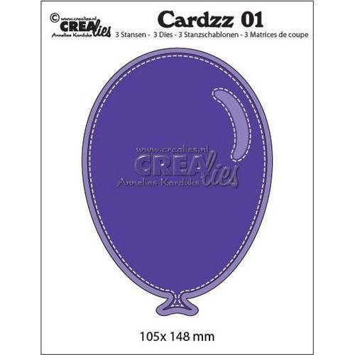 Crealies Cardzz nr 01 ballon CLCardzz01 / 105 x 148 mm (01-17)