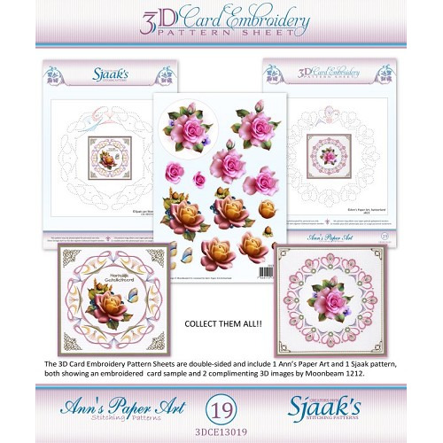 3D Card Embroidery Pattern Sheets with Ann & Sjaak