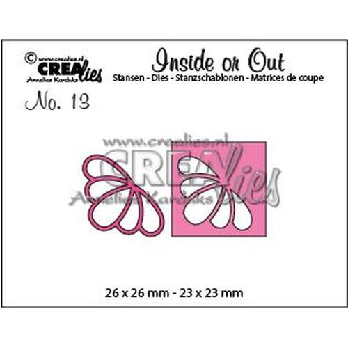 Crealies Insider or Out Corners G bloem CLIO13 26 x 26 mm - 23 x 23 mm (08-18)