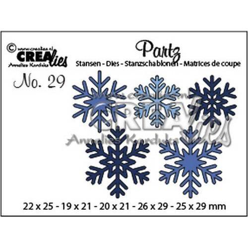 Crealies Partz no. 29 5x sneeuwvlokken CLPartz29 19 x 21 - 26 x 29 (09-18)