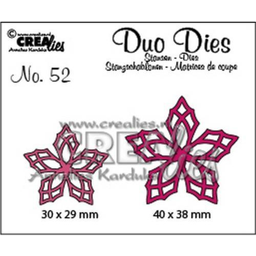 Crealies Duo Dies no. 52 bloemen 23 CLDD52 30 x 29 mm - 40 x 38 mm   (09-18)