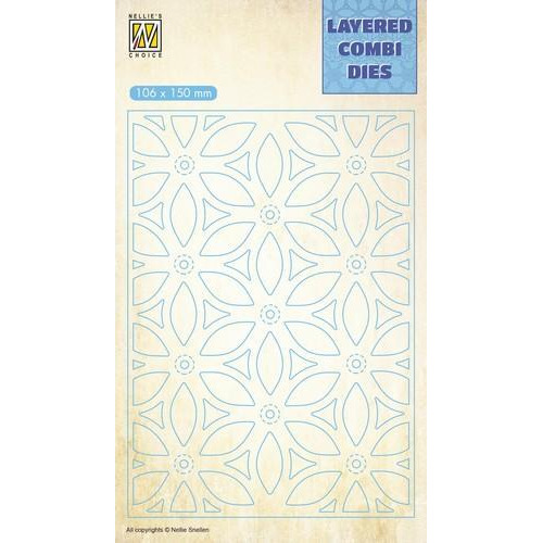 Nellie's Choice Layered Combi Die bloem laag B LCDF002 106x150mm (01-19)