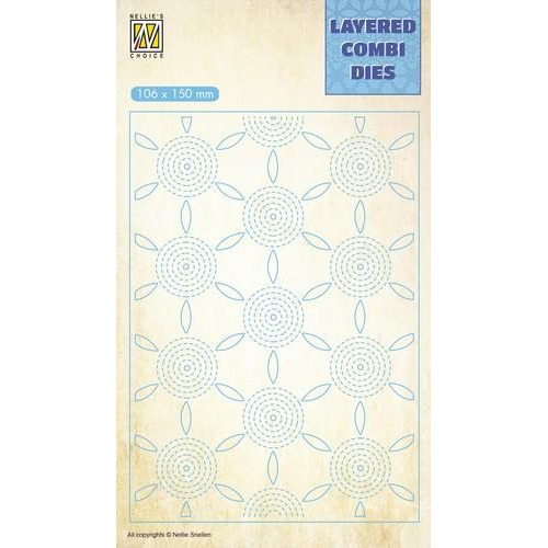 Nellie's Choice Layered Combi Die bloem laag C LCDF003 106x150mm (01-19)