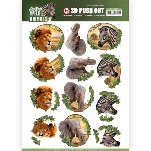 3D Pushout - Amy Design - Wild Animals 2 - Africa